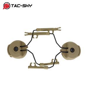 Image 3 - Tactical Headset Bracket Fast Ops Core Helmet ARC Rail Adapter Set Peltor comtac Series Military Noise Cancelling Headphones DE