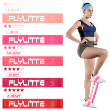 Flylitte 5pcs/set Latex Elastic Fitness Band Gum Crossfit Exercise Pilates Training Resistance Band Strength Gym Rubber Expander