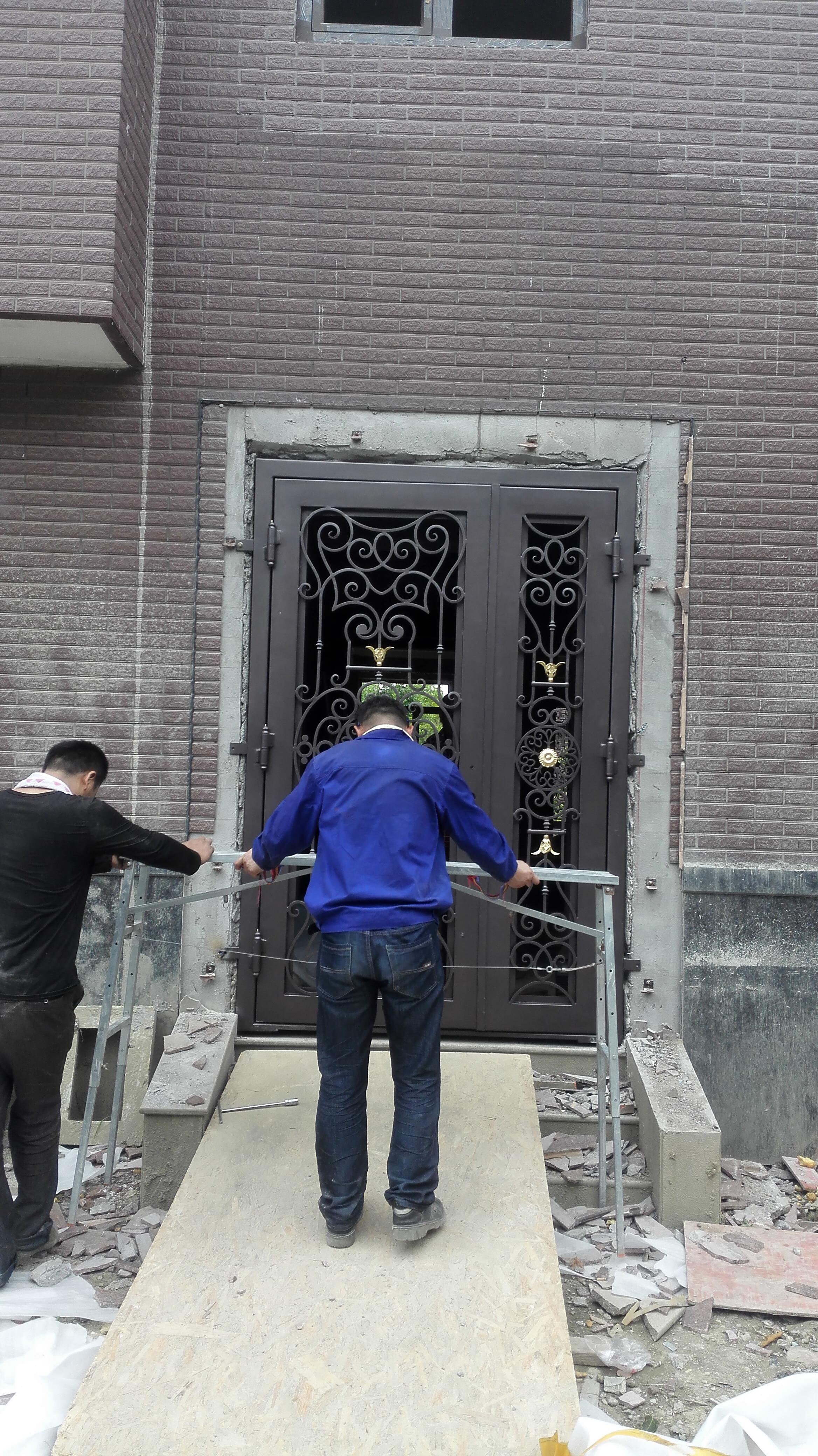 Shanghai Hench Brand China Factory 100% Custom Made Sale Australia Modern Iron Entry Doors