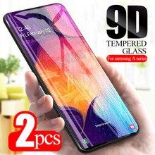 2 peças de vidro temperado no para samsung galaxy a70 a50 a40 a30 a20 a20e a10 sumsung um 30 50 70 protetor de tela