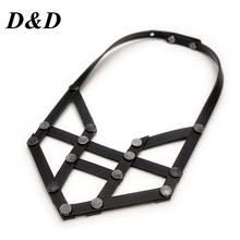 Женское Ожерелье d & из натуральной черной кожи ручной работы