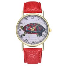 Big Turtle Cute Cat Luxury Fashion Leather Strap Cheap Women Quartz Wat
