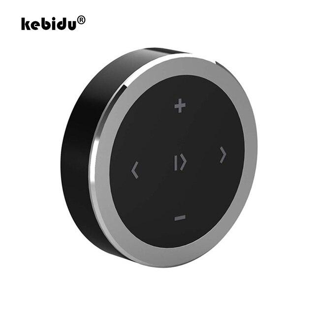 Kebidu araba motosiklet direksiyon müzik çalma uzaktan kumanda kablosuz Bluetooth medya düğmesi iOS/Android telefon için