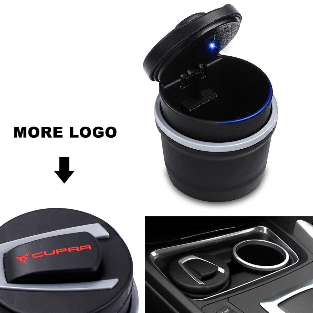 Car Styling Car Ashtray Cigarette Smoke Holder Portable Storage For Seat Leon FR+ Ibiza Cupra Altea Belt Racing Accessories