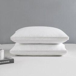 Peter Khanun tekstylia domowe poduszka do spania 100% bawełna białe pióro gęsie lampa świecąca w dół poduszki Zero ciśnienie 3 warstwy 48*74cm 050