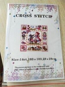 Image 5 - Комплект для вышивки крестиком t Birds, цветущий персик и птицы, хлопковая Вышивка крестиком, мечты подружек