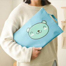 File Folder Stationery Organizer School Supplies Canvas Cute Animals A4/A5 Oxford File Bag PVC Document Bag Stationery(China)