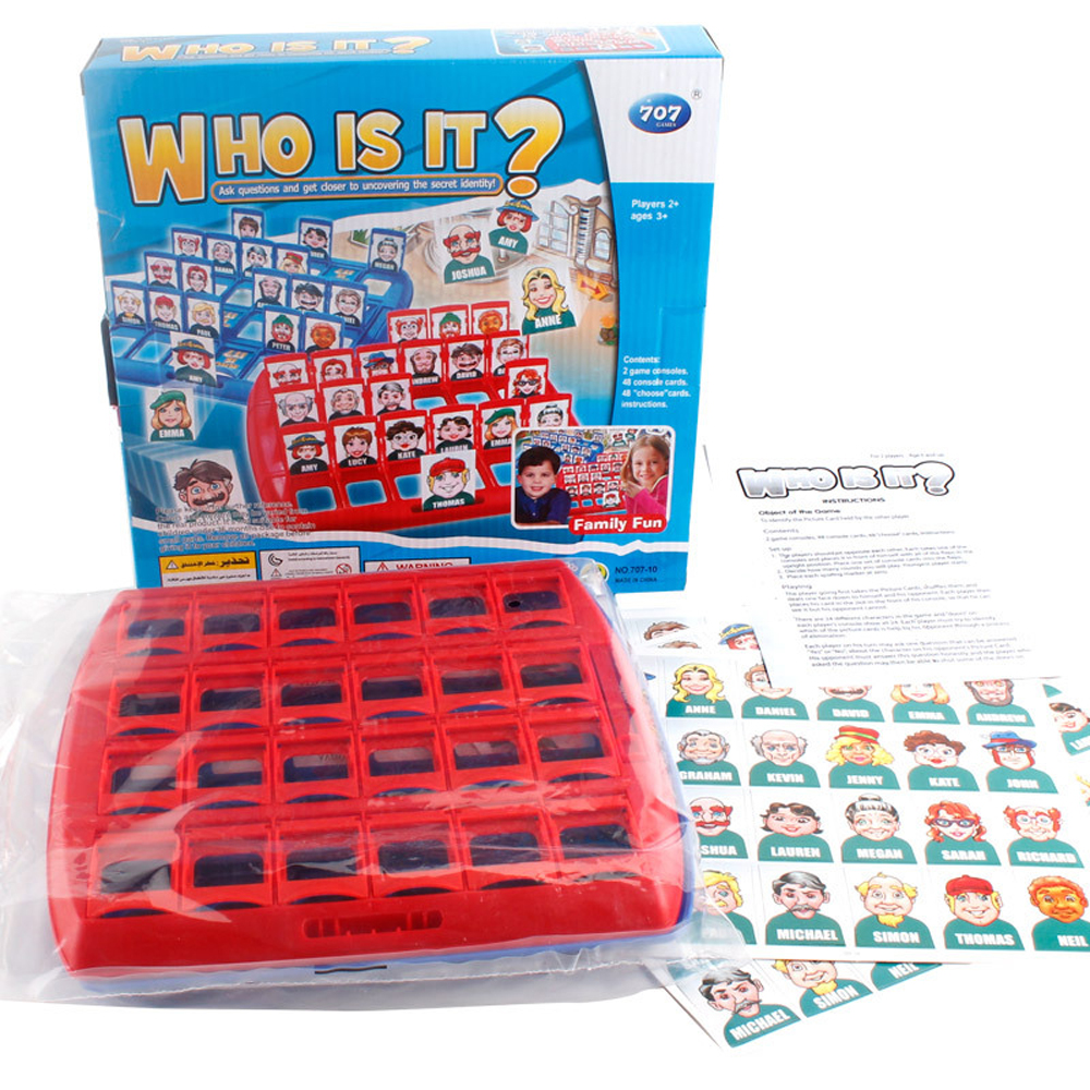 Funny Family Guessing Games Kids Toys Who Is It Classic Board Game Interactive Toys For Children Party Play Birthday Gift 3