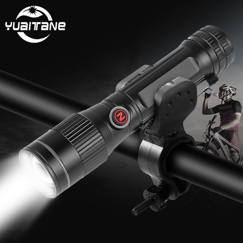 20000LM Super Bright Most Powerful P8 LED <font><b>Bicycle</b></font> <font><b>Flashlight</b></font> USB Rechargeable USB Zoom Bike Torch 18650 <font><b>for</b></font> outdoor Bike Light image