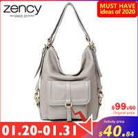 Bolso de hombro de moda Zency para mujer 100% de cuero genuino de gran capacidad bolso multifunción de uso bolso bandolera