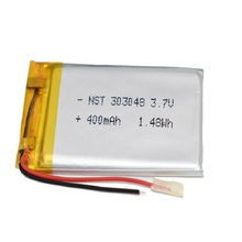 Rechargeable-Battery 303050 400mah for GPS Mp3 Mp4 Mp5 Dvd Remote-Control E-Book Plib-Polymer