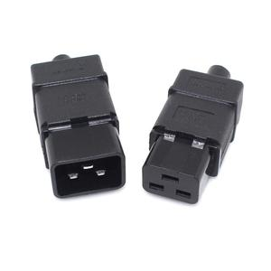 PDU/UPS socket Standard IEC320 C19 C20 16A 250V AC Electrical Power Cable Cord Connector Removable plug SS-809 SS-810 Plug