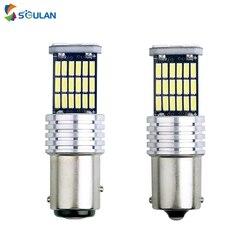 1 pcs led car bulb 4014 45smd 1156 ba15s p21w 1157 bay15d py21/5w canbus led turn signal lamp w21/5w p27/7w brake lights 12V Red