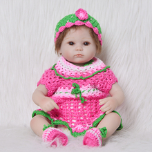 42cm Silicone Reborn Baby Doll children game Playmate Gift For Girls 17 Inch Alive Simulation baby model Toys Bebe doll