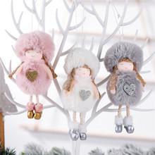 Ozdoby choinkowe dla domu pluszowa lalka anioł pluszowy święty mikołaj wiszące ozdoby choinkowe ozdoby dla lalek nowy rok tanie tanio PD-496-503 christmas tree home decorations natal