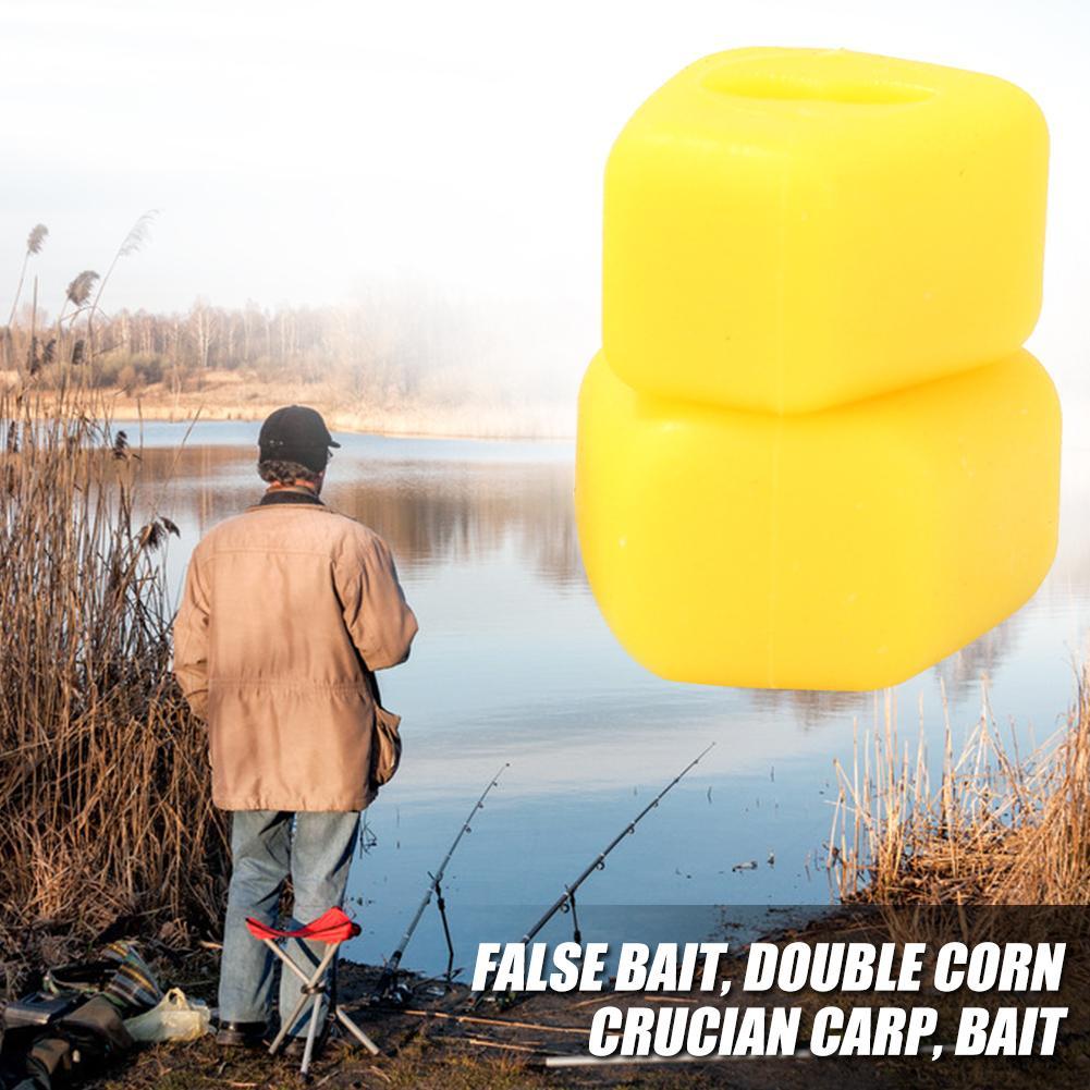 Leurres de pêche formes de maïs carpe leurres de pêche appâts en plastique durables flottant odeur saveur de maïs attirail artificiel
