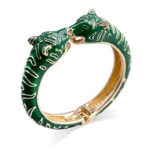 KAYMEN Новый Браслет манжета с головой леопарда животного для девушек женщин позолоченный именной браслет модный браслет 4 цвета 3316|Браслеты|   | АлиЭкспресс