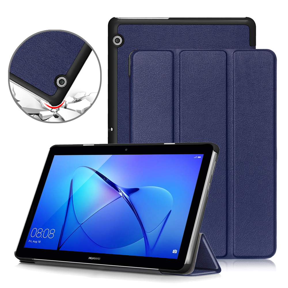 Slim Case For Huawei MediaPad T3 10 ,PU Leather Folding Stand Cover For Huawei T3 10 Case  AGS-L09 AGS-W09 Tablet Case