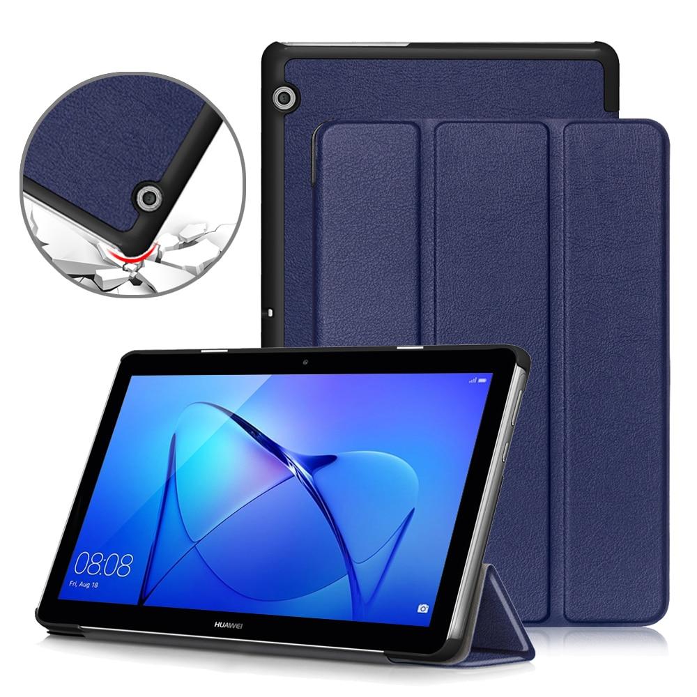 Capa fina para huawei mediapad t3 10, capa dobrável de couro pu para huawei t3 10, capa AGS-L09 AGS-W09 tablet