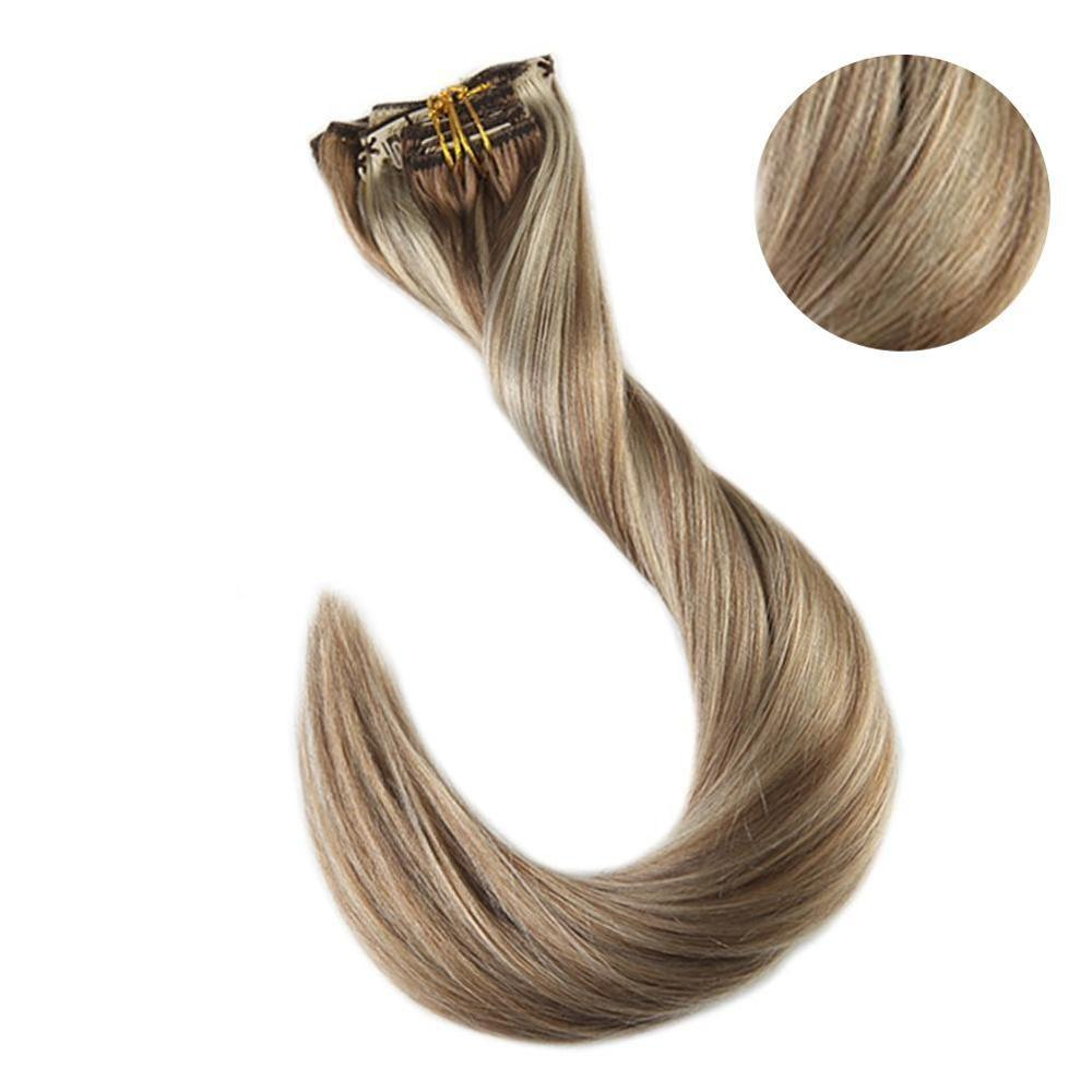 Hair-Extensions Human-Hair 100%Remy Clip-In 7pcs EVER Highlight-Color Balayage Lowest-Price