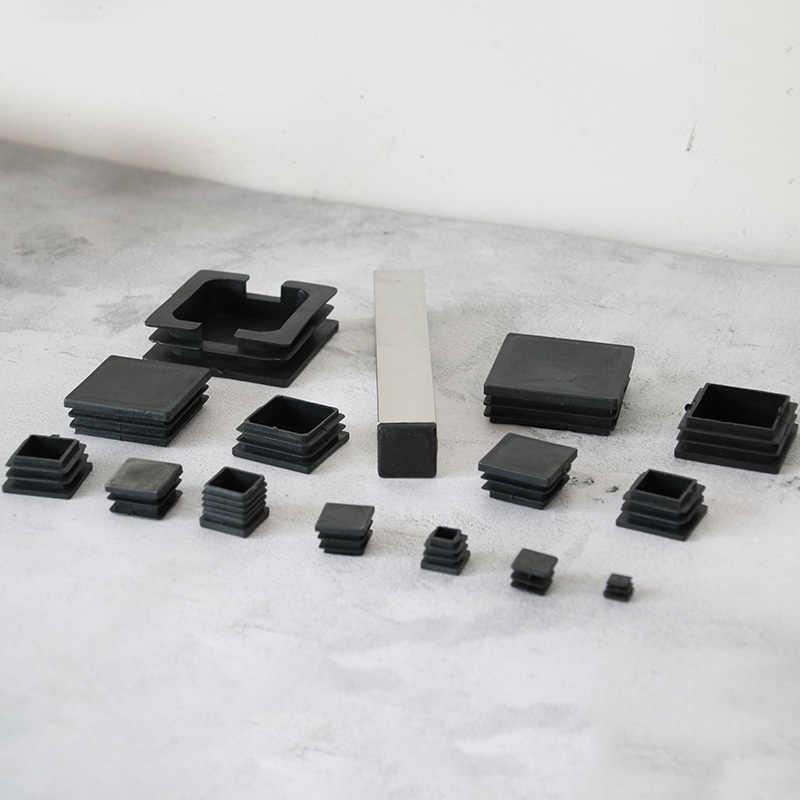 Square Plastic Blanking Table Feet Furniture Tube Leg End Cover Caps Plug Bung