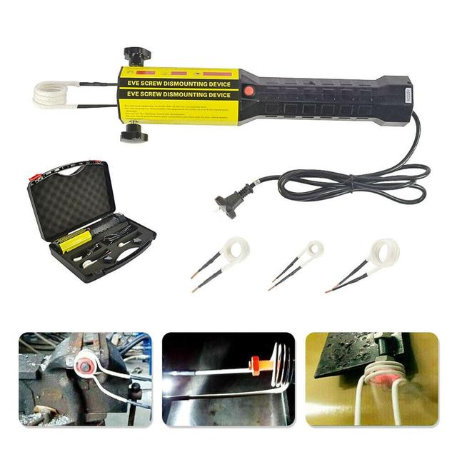110V/220V Magnetic Induction Heater 4 Coils Bolt Heat Remover Tool Kit Automotive Flameless Induction Heater Car Repair Tool