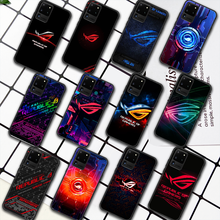 Republic Of Gamers ROG Phone Case For Samsung Galaxy S Note 6 7 8 9 10 E 20 UITRA FE 21 Plus Edge black Etui Soft Coque 3D