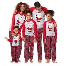 Рождественский семейный пижамный комплект для взрослых, детские пижамы, хлопковый детский комбинезон, семейная одежда для сна, Рождественская семейная Одинаковая одежда