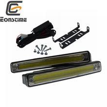 Eonstime éclairage de jour, technologie COB Ultra brillante, éclairage de jour, lampe de voiture, DRL, anti brouillard 12/24V, 8W, 16cm, 6500K