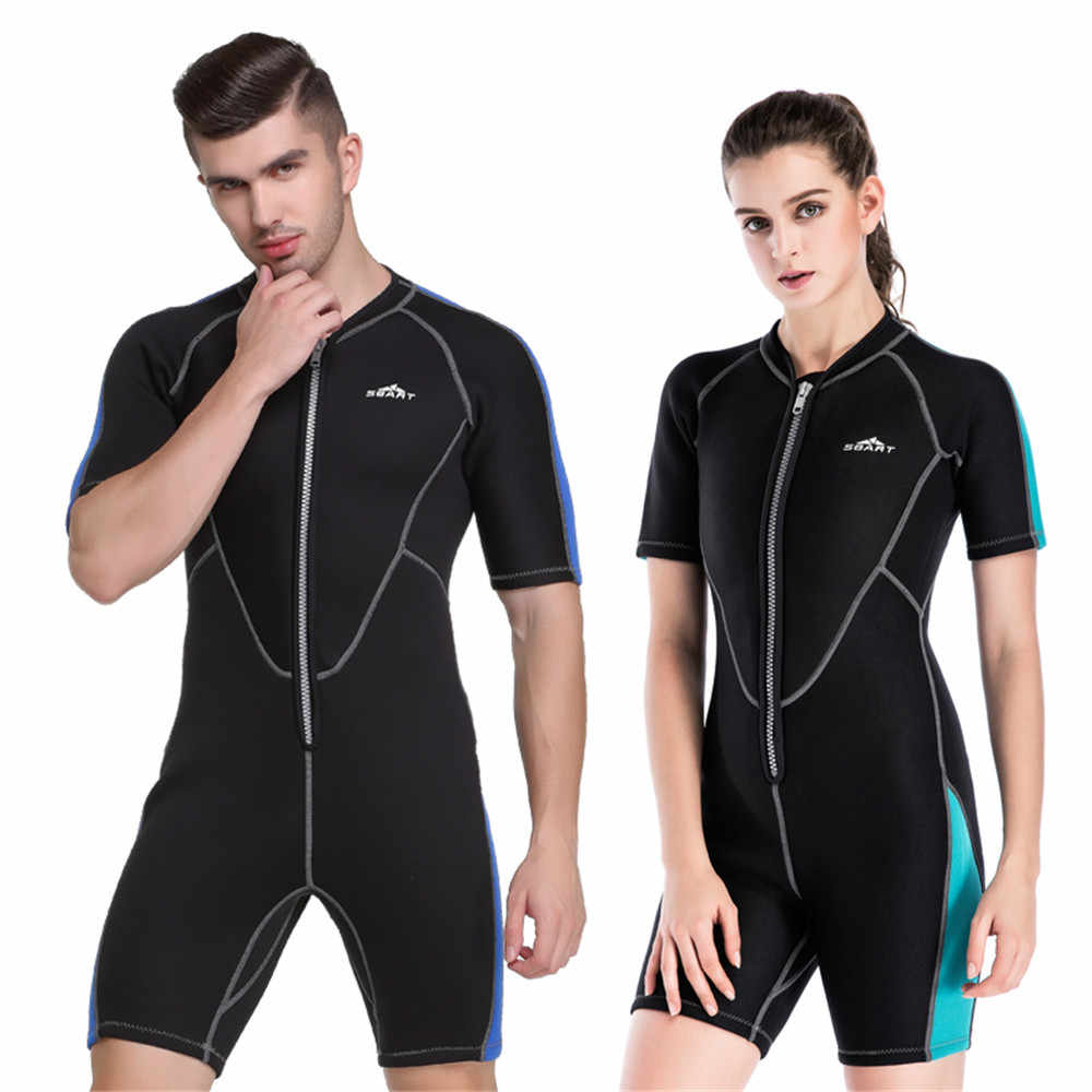 SBART 2 Mm Wanita Tebal Menyelam Pakaian Renang Baju Renang Tahan Air Ibu Hangat Snorkeling Menyelam Jauh Pakaian Renang