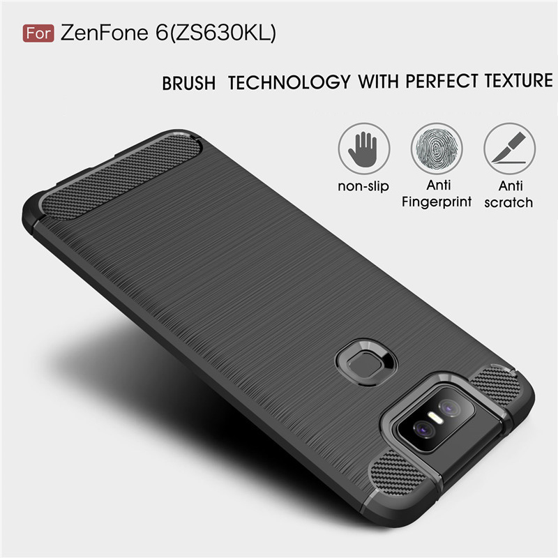 Case For Asus Zenfone 6 Case Silicon Carbon Fiber TPU Soft Silicone Case For Asus Zenfone 6 ZS630KL 6Z 6 2019 Phone Cover