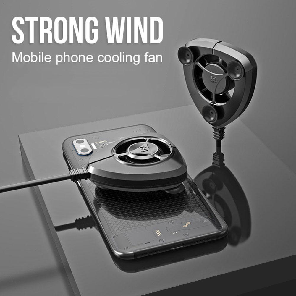 Portable Cooling Fan Gamepad Game Handle Radiator Mobile Phone Cooler Mini Cooling Fans For iPhone Samsung Huawei Xiaomi Tablet image