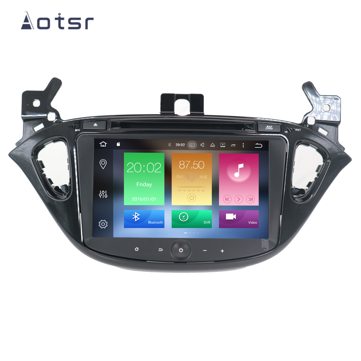 Android 9.0 4+32G Car DVD Player GPS navigation For <font><b>Opel</b></font> <font><b>CORSA</b></font> <font><b>2014</b></font> 2015 2016 headunit multimedia player tape recorder Free Map image