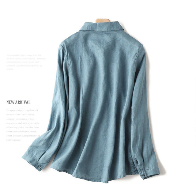 100% Cotton Women Casual Blouses Shirts New 2020 Spring Korean Style Floral Embroidery Ladies Elegant Tops Shirts Plus Size P280 2