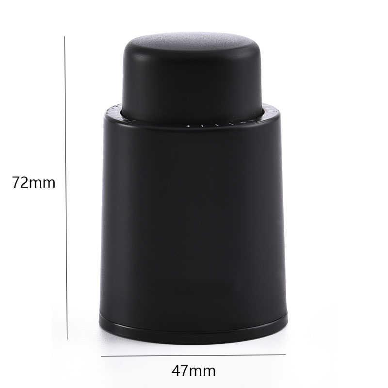 שחור ABS ואקום יין בקבוק פקק אטום אחסון זיכרון ואקום יין פקק לדחוף סגנון יין פקקים בר כלים