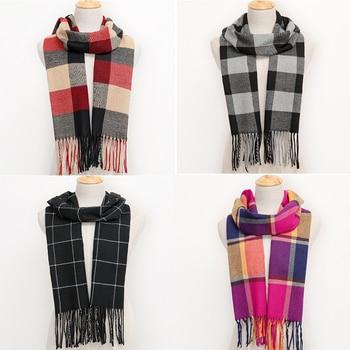 2020 popular Cashmere Couple scarf Plaid Winter Men's business Scarf Women Warm classic lattice Scarves Fashion Casual Scarfs