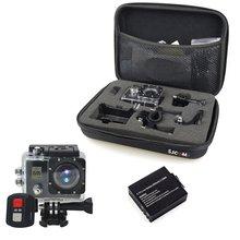 """3 в 1 Ultra HD 4K WiFi камера видеокамера с двойным экраном """" ЖК-дисплей подводная 30 м водонепроницаемая Спортивная экшн-камера с пультом дистанционного управления"""