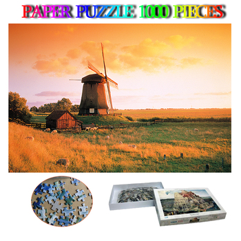 Holland Paper Adults 1000 Pieces Puzzle Landscape Jigsaw Puzzle 1000 Pieces World Famous Landscape Puzzles Toys Children Gifts