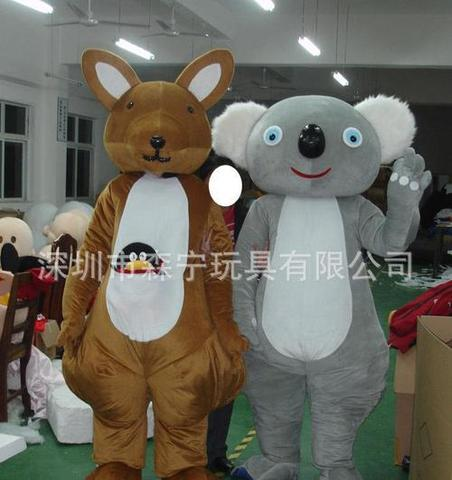 tml cosplay canguru e coala mascote traje