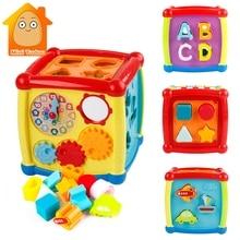 רב תכליתי מוסיקלי צעצועים פעוט תינוק תיבת מוסיקה אלקטרונית צעצועי הילוך שעון גיאומטרי בלוקים מיון צעצועים חינוכיים