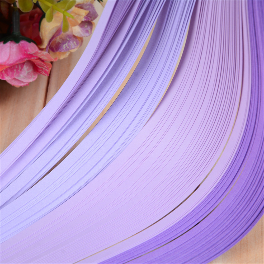 5mm and 10mm wide 100 quilling paper strips in berry blue 3mm
