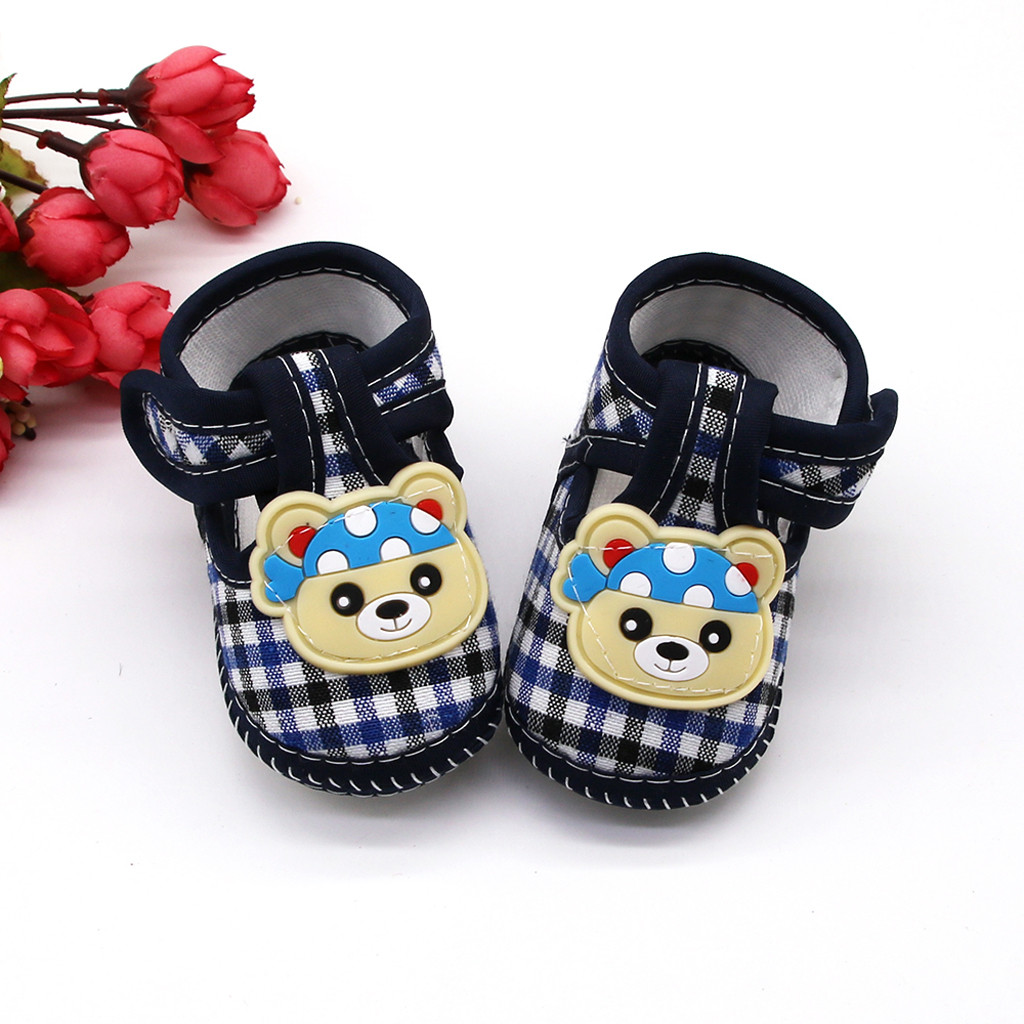 Crib-Shoes Newborn Infant Baby Baby-Boys-Girls Cotton for Non-Slip Cute Cartoon Bears
