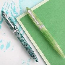 New MOONMAN PENBBS 480 Celluloid Acrylic Fountain Pen Silver Pen Clip Iridium Fine Nib 0.5mm Fashion Office Writing Gift Pen Set цена 2017