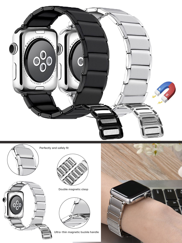 Stainless Steel Watch Band Strap for Apple Watch Band 6 5 4 3 2 1 44mm 40mm 42mm 38mm