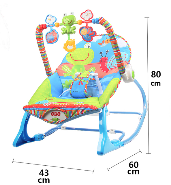 Baby Electric Cradle Swing For Newborn Metal Rocking Chair with Light Music Player Multi-function Baby Bassinet Cradle Kids 5
