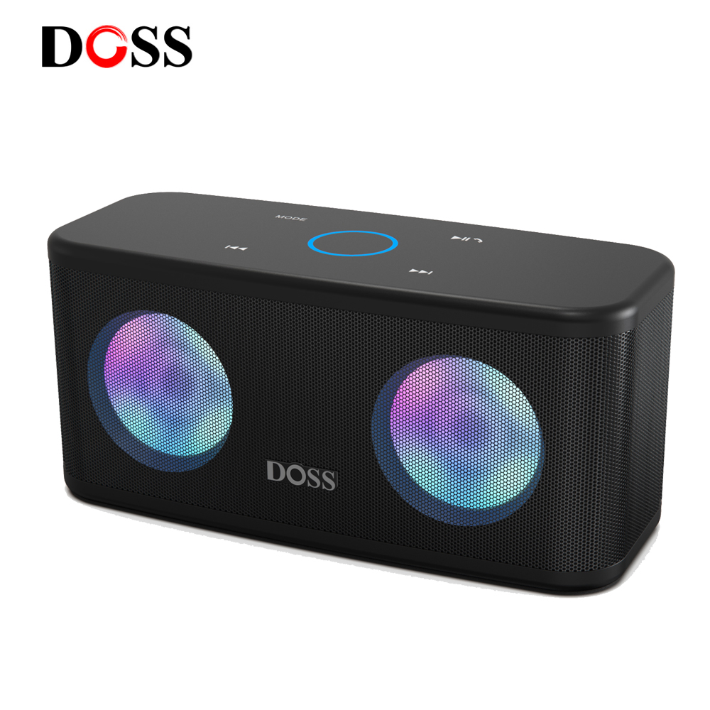 Doss Wireless Bluetooth Speaker Soundbox Plus Portable Sound Box Stereo Deep Bass 20h Playtime Subwoofer Loudspeaker Led Light Aliexpress