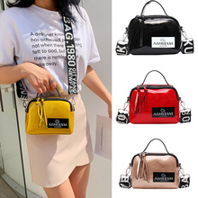 Luxury Ladies Top-Handle Bags Fashion PU Letter Wide Shoulder Strap Shoulder Messenger Bag Mini zipper Solid Color Bag Hot Sale играем вместе набор мыльных пузырей тачки