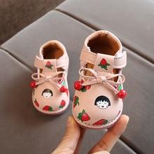 Shoes Baby Ainyfu Pu Non-Slip Soft-Bottom Toddler B877 Female Autumn Princess Kids New