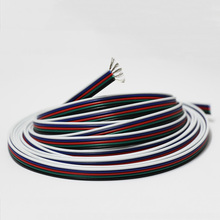 10m /lot 2468 22awg 2 pin tinned oxygen-free copper red black PVC  insulated wire cable 22 awg stranded wire LED electronic wire недорого