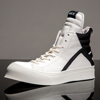 Fashion Hip Hop Men's Boots Basketball Sneakers Trend AJ Shoes High Quality Leather Men Casual Shoes Cowhide High Boots